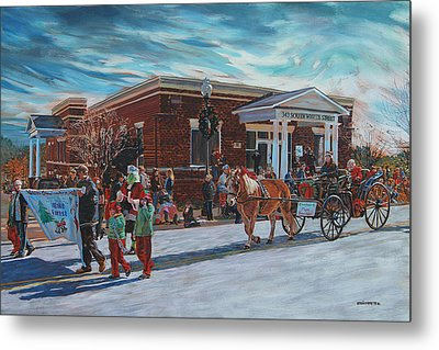 Wake Forest Christmas Parade Metal Print by Tommy Midyette