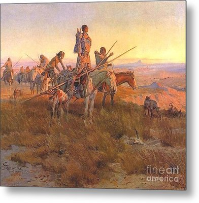 Wake Of The Buffalo Runners Metal Print by Pg Reproductions