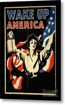 Wake Up America Metal Print