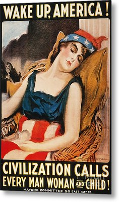 Wake Up America Poster Metal Print