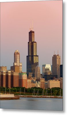 Wake Up Chicago Metal Print by Sebastian Musial