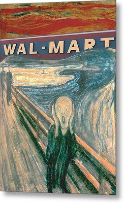 Wal-mart Scream Metal Print