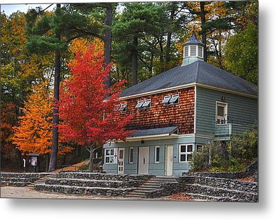 Walden Pond Bath House Concord Ma Metal Print