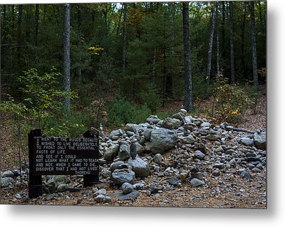 Walden Pond House Site Concord Ma Metal Print