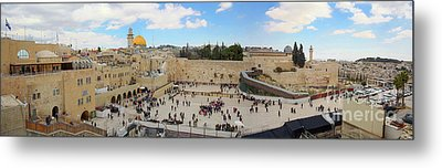 Haram Al Sharif / Temple Mount Panorama - Israel / Palestine Metal Print by Wietse Michiels