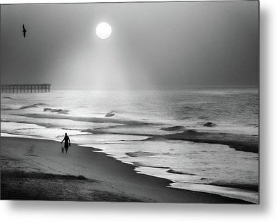 Walk Beneath The Moon Metal Print by Karen Wiles
