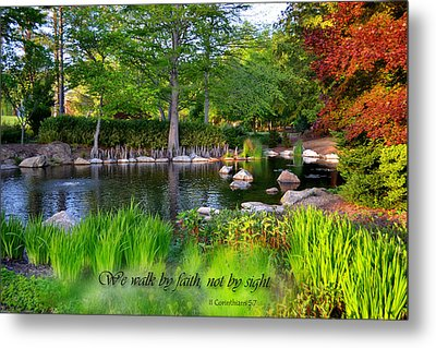 Walk By Faith Metal Print by Larry Bishop