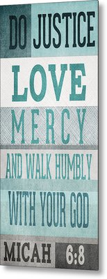 Walk Humbly- Tall Version Metal Print