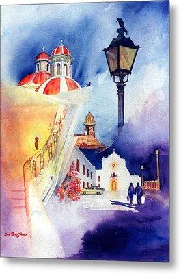 Walk In Old San Juan Metal Print by Estela Robles