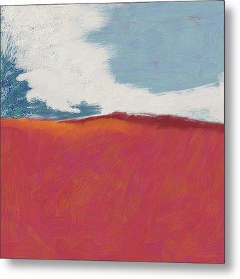Walk In The Field- Art By Linda Woods Metal Print