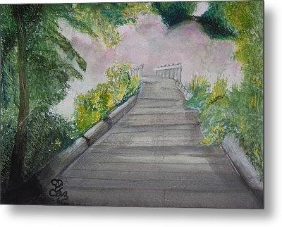 Walk In The Mist Metal Print