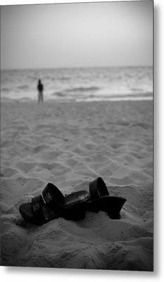 Walk On The Beach Metal Print by Sebastian Musial