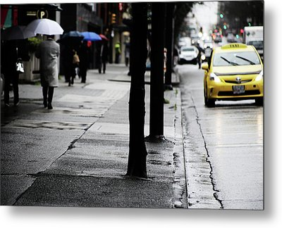 Walk Or Cab Metal Print by Empty Wall
