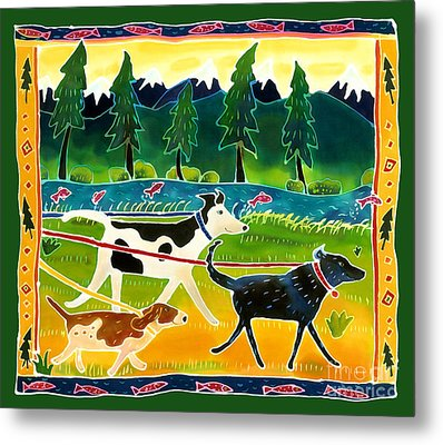 Walk The Dogs Metal Print by Harriet Peck Taylor