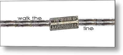 Metal Print featuring the digital art Walk The Line by Heather Applegate