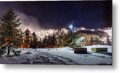 Walk To The Ski Hills Metal Print by Jeff S PhotoArt