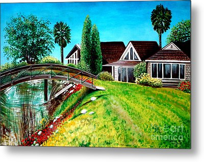 Metal Print featuring the painting Walk With Me by Elizabeth Robinette Tyndall