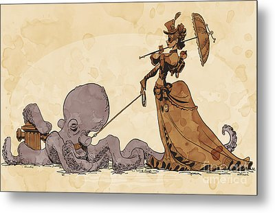 Walkies For Otto Metal Print by Brian Kesinger