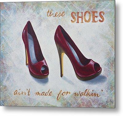 Walkin' Shoes Metal Print by Nicola Hill