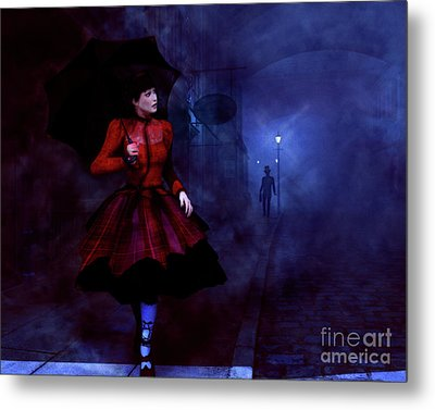 Metal Print featuring the digital art Walking After Midnight by Methune Hively