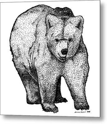 Walking Bear Metal Print by Karl Addison
