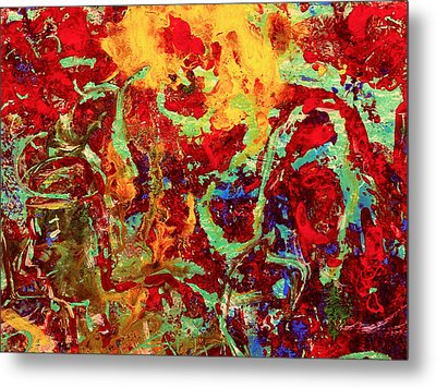 Walking In The Garden Metal Print by Natalie Holland