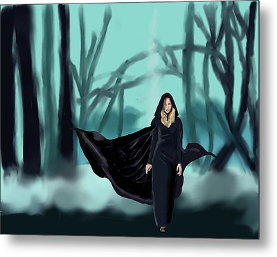 Walking In The Woods Metal Print by Stacy Parker