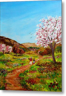 Walking Into The Springfields Metal Print by Constantinos Charalampopoulos