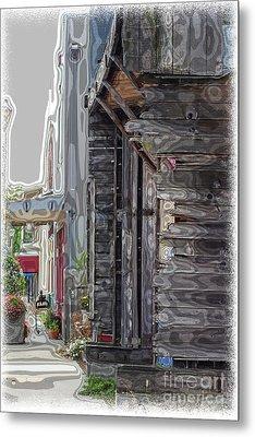Walking Old Town Metal Print
