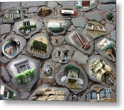 Walking On History Metal Print by Sandro Rossi