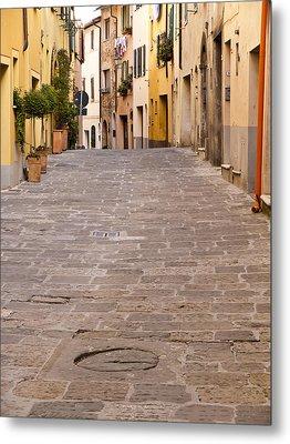 Walking Through Montepulciano Metal Print by Rae Tucker