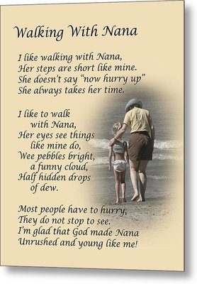 Walking With Nana Metal Print