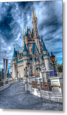 Walkway To Cinderellas Castle Metal Print