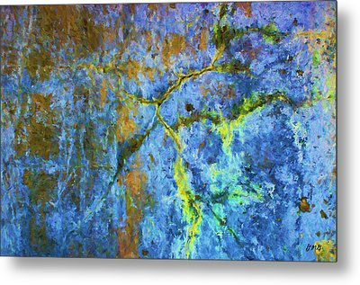 Wall Abstraction I Metal Print by Dave Gordon