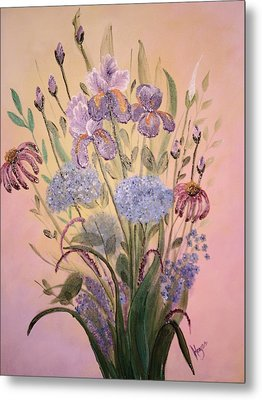 Metal Print featuring the painting Wall Art by Barbara Hayes