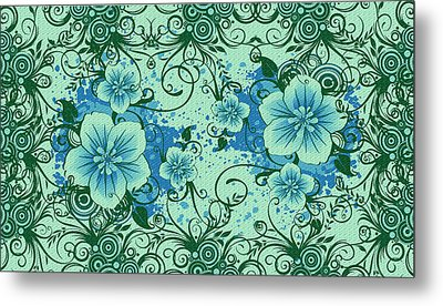 Wall Flower 8 Metal Print by Evelyn Patrick