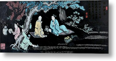 Wall Mural In Qibao - Shanghai - China Metal Print by Christine Till