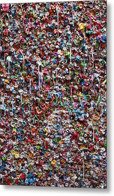 Wall Of Chewing Gum Seattle Metal Print by Garry Gay