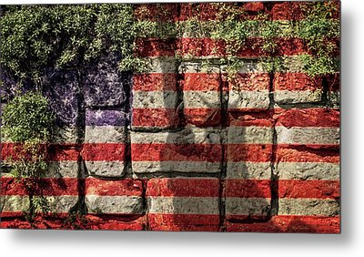 Wall Of Liberty Metal Print by Wim Lanclus