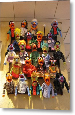 Wall Of Muppets Metal Print by Choi Ling Blakey