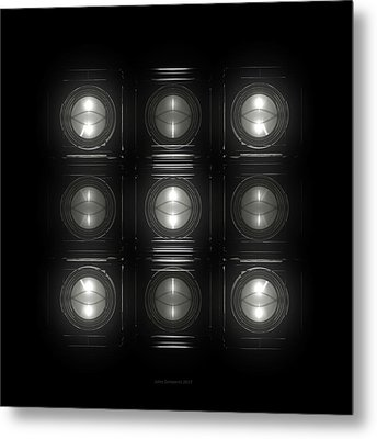 Wall Of Roundels 3x3 Metal Print