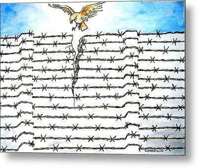Wall Of Separations Metal Print by Paulo Zerbato