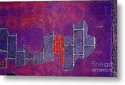 Wall Of Violet Textures Metal Print