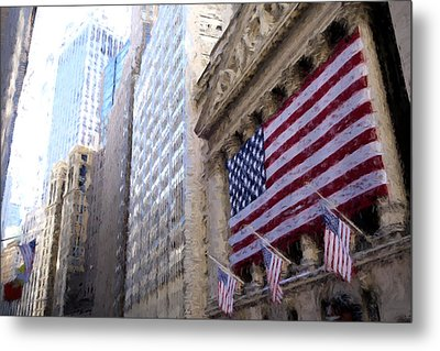 Wall Street, Nyc Metal Print by Matthew Ashton