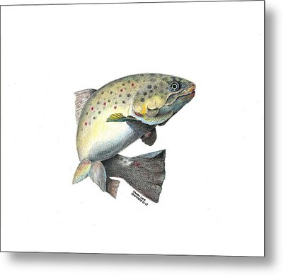 Wallace Brantley Fishing Series Mr. T Metal Print by Sharon Blanchard