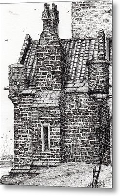 Wallace Monument  The Small House Metal Print