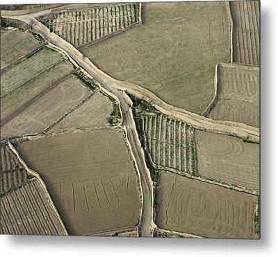 Walled Fields Near Bagram Metal Print by Tim Grams