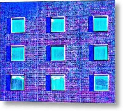 Walls Of Windows Metal Print by Gillis Cone