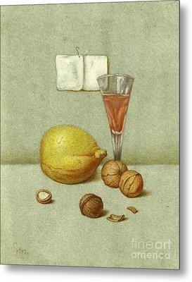 Walnuts And Lemon Metal Print