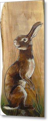 Walnutty Bunny Metal Print by Jacque Hudson
